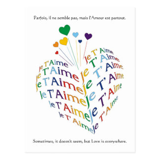"""Say, """"I Love You"""" in French / Postcard"""