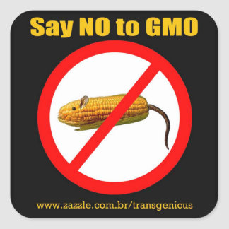 Say IN you GMO Square Sticker