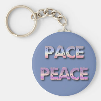 Say it in Italian Keychain--Pace means Peace Keychain