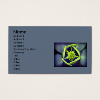 Say it with flowers business card