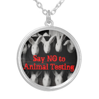"""""""Say NO to Animal Testing"""" Animal Rights Necklace"""