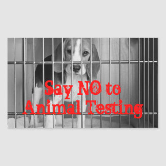 """Say No to Animal Testing"" Beagle sticker"