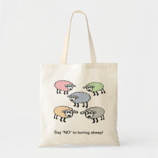 "Say ""NO"" to boring sheep bag. Tote Bag"