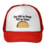 Say No To Drugs Yes To Tacos Mesh Hats