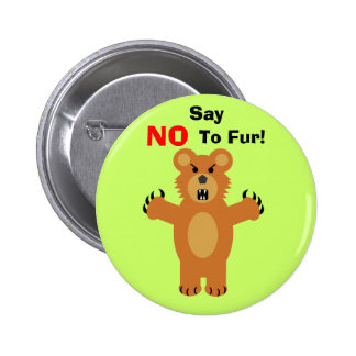 Say NO To Fur! 2 Inch Round Button