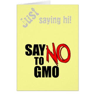 Say NO to GMO Card