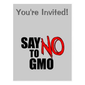 Say NO to GMO Post Card
