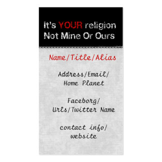 Say No To God Cults Business Card