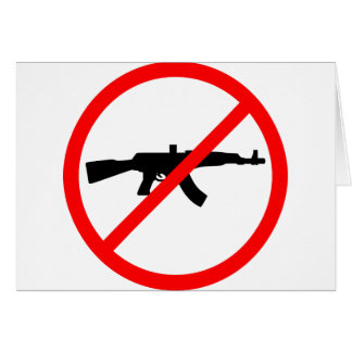 Say No To Guns Greeting Card