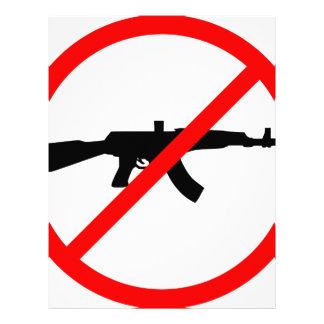 Say No To Guns Customized Letterhead