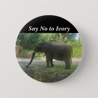 Say No to Ivory Elephant #2 Pinback Button