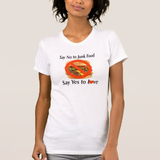 Say no to junk Food Women's Fine Jersey T-Shirt