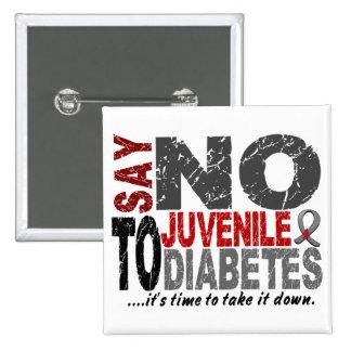 Say NO To Juvenile Diabetes 1 2 Inch Square Button