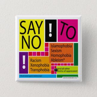 Say No To Oppression! #Resist 2 Inch Square Button