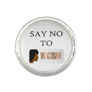 Say no to racism photo rings