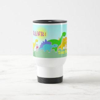 Say Rawr! Dinosaurs Back to School Name Mug