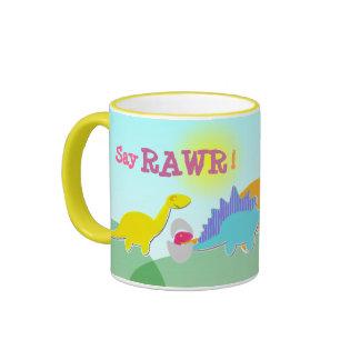 Say Rawr Dinosaurs Name Mug