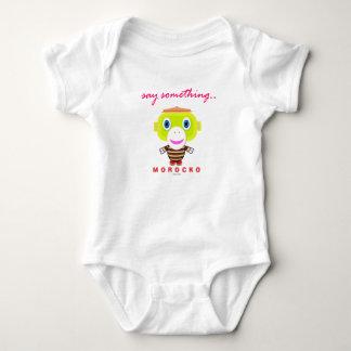 Say Something-Cute Monkey-Morocko Baby Bodysuit