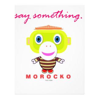 Say Something-Cute Monkey-Morocko Letterhead