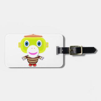 Say Something-Cute Monkey-Morocko Luggage Tag