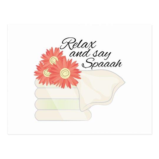 Say Spa Postcard