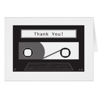 Say thank you with a mix tape card