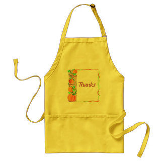 Say thanks with pumpkins adult apron