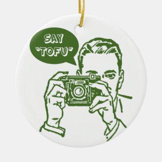 Say Tofu Ceramic Ornament