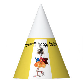 Say what? Happy Easter! by Jenkxe design Party Hat
