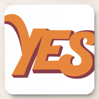 Say yes drink coaster