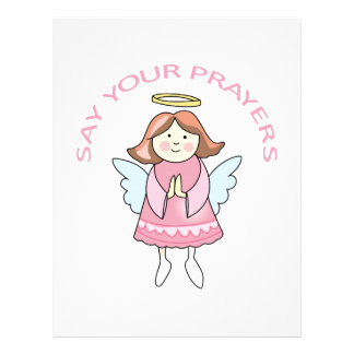 Say Your Prayers Personalized Letterhead