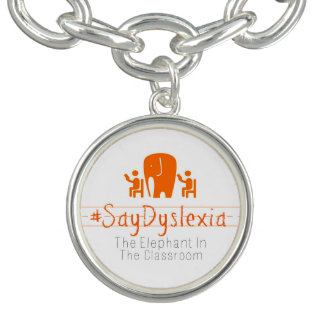 #SayDyslexia Round Charm Bracelet