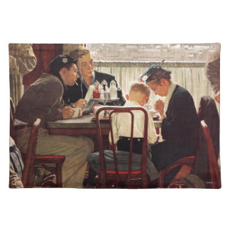 Saying Grace by Norman Rockwell Placemat