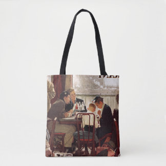 Saying Grace by Norman Rockwell Tote Bag