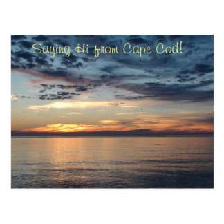 Saying Hi from Cape Cod Sunset Post Card