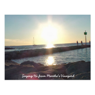 Saying HI from Martha's Vineyard Beach Post Card
