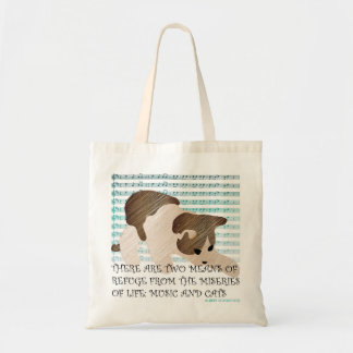Sayings Cat Music Bag
