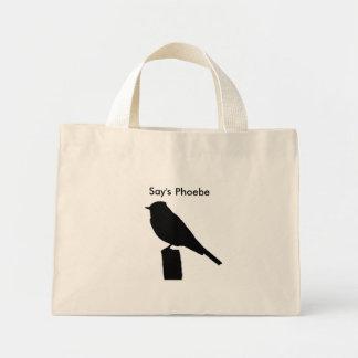 Say's Phoebe silhouette Bag