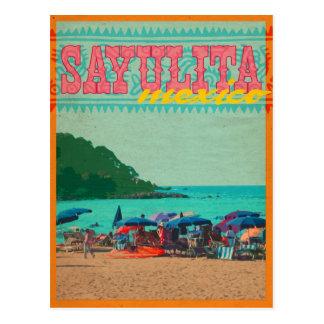 Sayulita Mexico Vintage Style Postcard