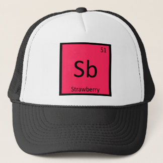 Sb - Strawberry Fruit Chemistry Periodic Table Trucker Hat