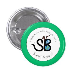 SBM Earth Day Social Animal Logo Mini Button Pin