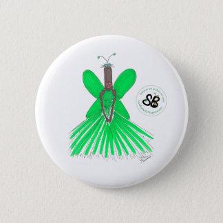 SBM Pseudo Celeb Green Ballgown Fashion Button Pin