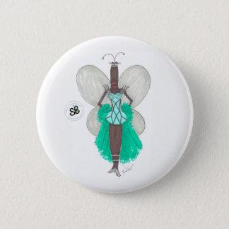 SBM Pseudo Celeb Green/Blue Geo Fashion Button Pin