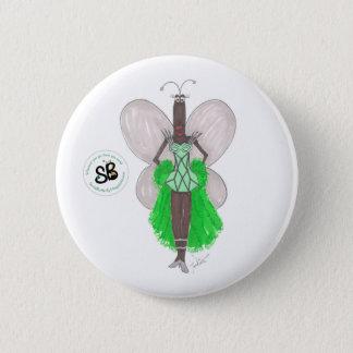 SBM Pseudo Celeb Green Geo Fashion Button Pin
