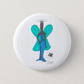 SBM Pseudo Celeb GreenBlue Glam Fashion Button Pin
