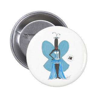 SBM Pseudo Celeb Pastel Blue Ruffle Fashion Pin