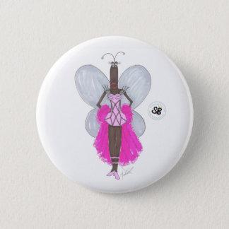SBM Pseudo Celeb Pastel Pink Geo Fashion Button