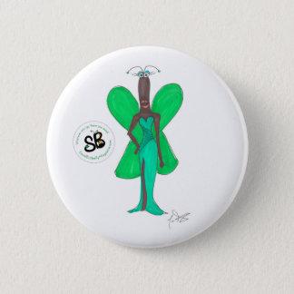 SBM Pseudo Celebrity Green Glam Fashion Button Pin