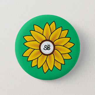 SBM Sunflower Button Pin