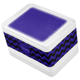 SC Chevron, Blue-Black-12 Can Igloo Cooler